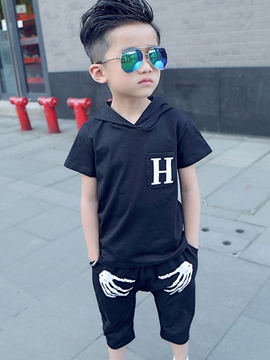 Ericdress Hooded print Patchwork Pleated Boys Outfits