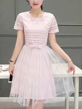 Ericdress Princess Soild Color Casual Dress