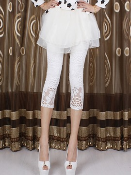 Ericdress Skinny Hollow Leggings Pants