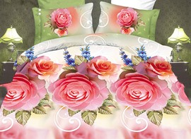 Ericdress Flowers Blooming Print 3D Bedding Sets