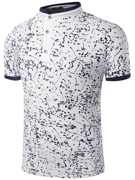 Ericdress Stand Collar Vogue Men's T-Shirt