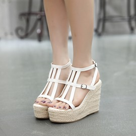 Ericdress Roman Cut Out Wedge Sandals
