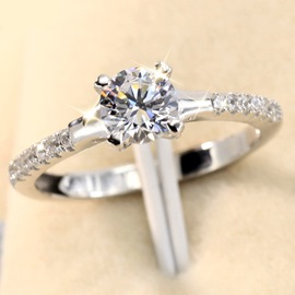 Dazzling Love 925 Silver Zircon Ring