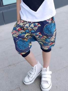 Ericdress Print Boys Knee Length Pants