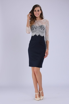 Half Sleeve Lace Patchwork Bodycon Dress