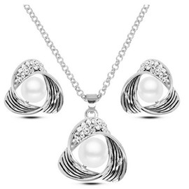 Pearl Triangle Two-Piece Jewelry Set