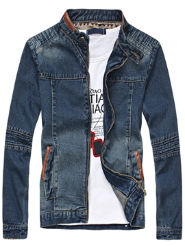 Ericdress Patchwork Denim Vogue Men's Jacket