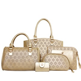 Ericdress Plaid Embossed Handbags(5 Bags)
