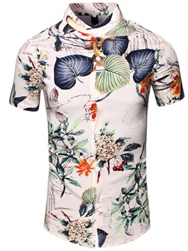 Ericdress Flower Print Men's Shirt