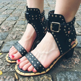 Ericdress Cool Rivets Chunky Sandals