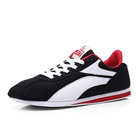 Ericdress Contrast Color Round Toe Lace-Up Men's Sneakers