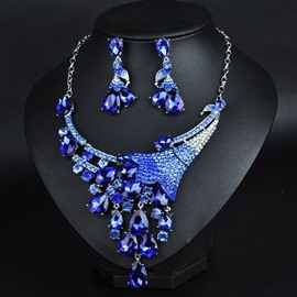 Ericdress Beautiful Crystal Flower Jewelry Set