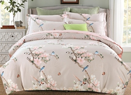 Ericdress Birds And Flower Print Cotton Bedding Sets