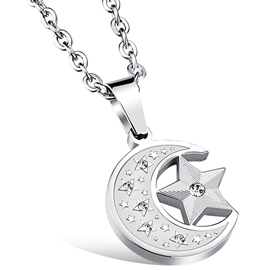 Ericdress Moon Star Pendant Men's Necklace