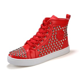 Ericdress Rivets Round Toe Lace up Men's Sneakers