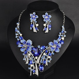 Ericdress High Quality Crystal Flower Jewelry Set