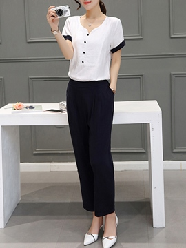 Ericdress Simple Casual Pants Suit