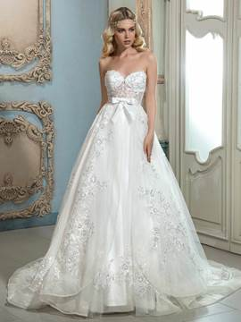 Ericdress Beautiful Appliques Sweetheart A Line Wedding Dress