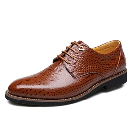 Ericdress Office Croco Lace up Men's Oxfords