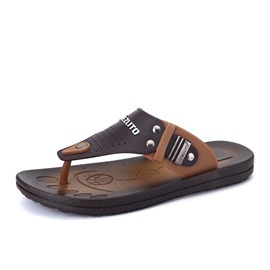 Ericdress Contrast Color Thong Men's Flip-Flops