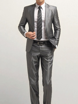 Ericdress Plain Vogue Men's Suit with Tie