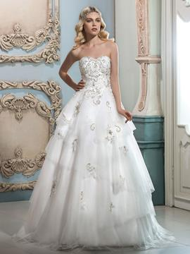 Ericdress Beautiful Beaded Sweetheart A Line Wedding Dress