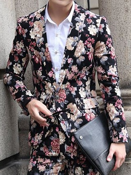 Ericdress Vogue Floral Two Pieces Slim Men's Suit
