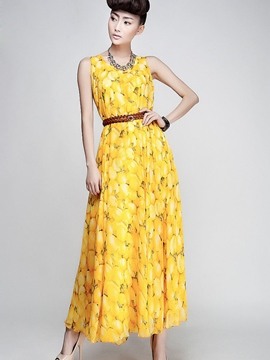 Ericdress Print Expansion Maxi Dress