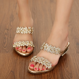 Ericdress Glittering Sequins Open Toe Mules Shoes
