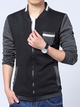 Ericdress Patchwork Casual Men's Jacket