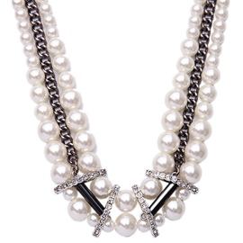 Multilayer Shining Pearl Necklace