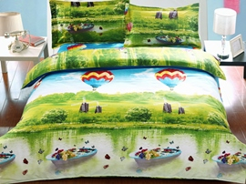 Ericdress Happy Playing Balloon Print 3D Bedding Sets