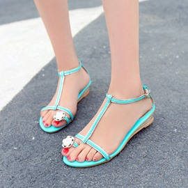 Ericdress T Strap Toe Ring Flat Sandals