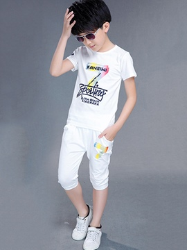 Ericdress Number Printed Casual Short Sleeve Boys Outfits