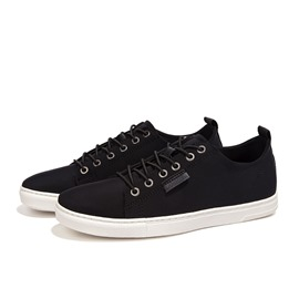 Ericdress Black Lace Up Canvas Shoes