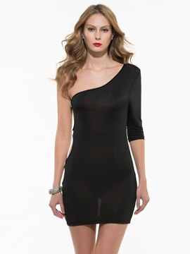 Sexy One Sleeve Club Dress