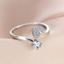 925 Sterling Silver Bright Love Ring