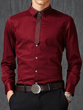 Ericdress Vogue Slim Long Sleeve Men's Shirt