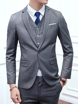 Ericdress Three-Piece of Slim Men's Suit
