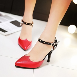 Ericdress Special Patchwork Point Toe Stiletto Sandals