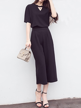 Ericdress Simple Pants Suit