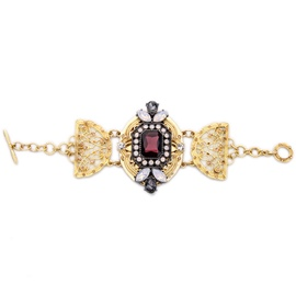 Alloy Dazzle Colour Ruby Bracelet
