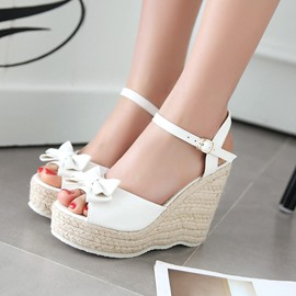 Ericdress Princess Bowtie Ankle Strap Wedge Sandals