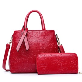 Ericdress Rose Embossed Handbags(2 Bags)