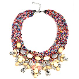 Bohemia Multi-Color Beads Necklace