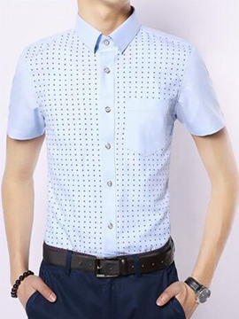 Ericdress Short Sleeve Pocket Slim Men's Shirt