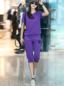 Ericdress Number Print Sports Suit