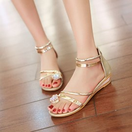 Ericdress Sweet Toe Ring Flat Sandals