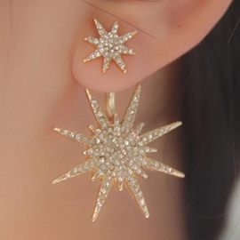 Ericdress Shining Snowflake Earrings for Women