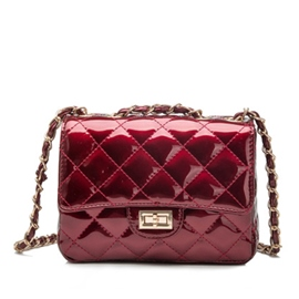 Ericdress Casual Shiny Plaid Crossbody Bag